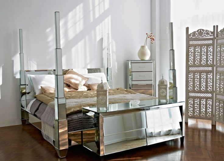 Superior Mirrored Furniture Set #10: Empire Mirrored Headboard U2013 A Classically Inspired Piece
