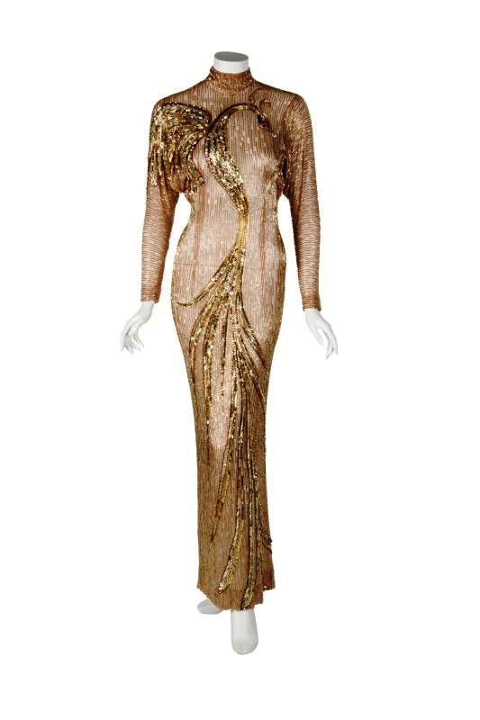 Gold Evenig gown by Bob Mackie for Cyd Charisse