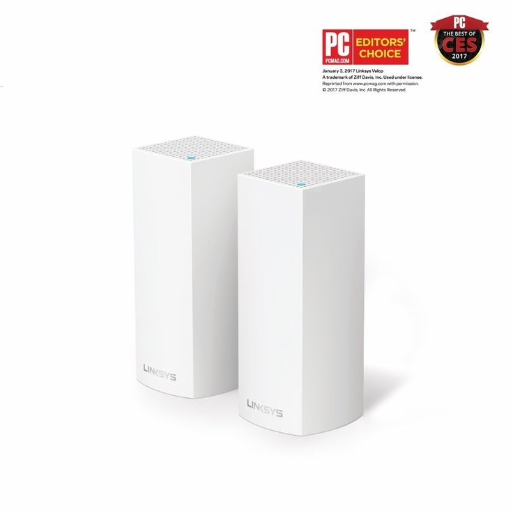 Linksys Velop Tri-band AC4400 Whole Home WiFi Mesh System 2-Pack, Works with Amazon Alexa (WHW0302)