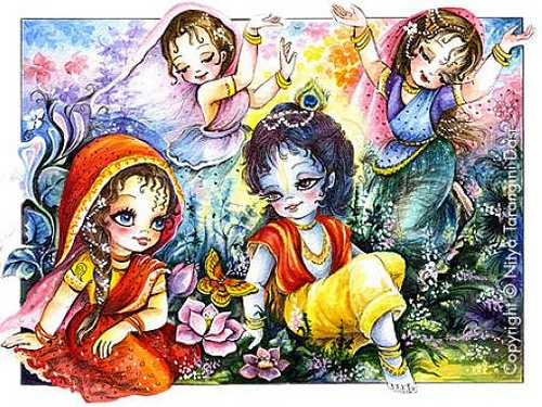 Radha Krishna and Gopis - ISKCON desire tree by ISKCON desire tree, via Flickr
