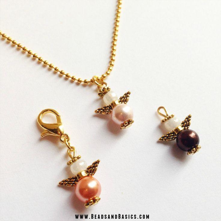 Engeltje van Kralen Goud - Kerst engeltjes / Kerst sieraden / Armbandjes maken / Kettingkje / DIY / Tutorial / Beads & Basics | Online Kralen Kopen