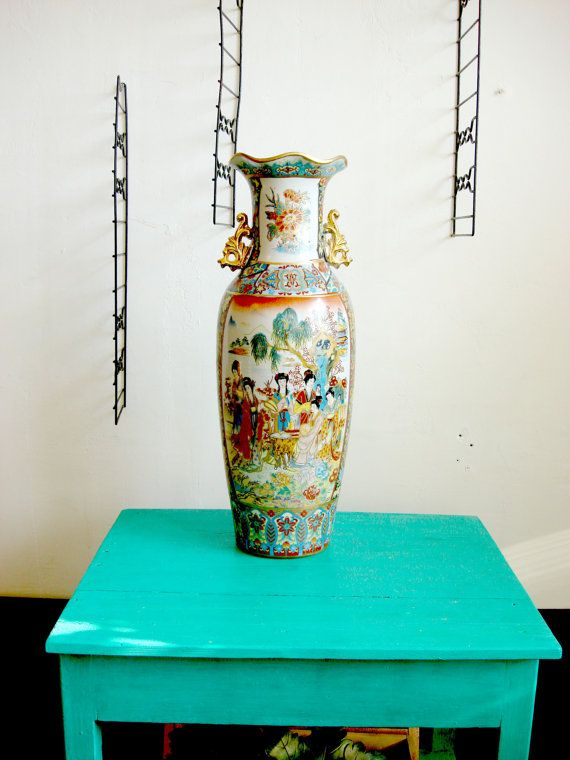 Large Chinese Porcelain Vase Girly Vase от OldMoscowVintage