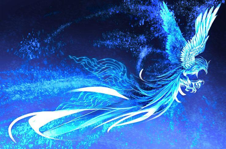 """Blue Phoenix  -  """"stary"""" by Krimsonblood (deviantart)"""