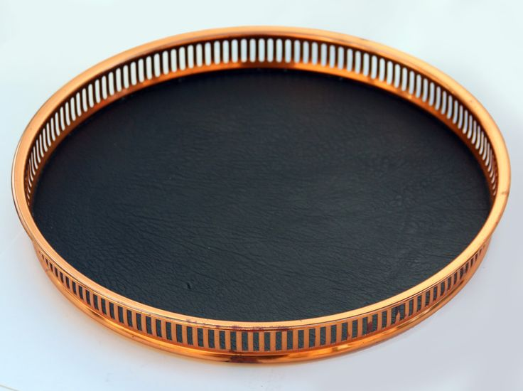 Reserved Mid Century copper gallery tray, Serving platter Nautical dish, Round Midcentury charger plate, Formica, Vintage kitchenware by NevaStarr on Etsy https://www.etsy.com/listing/221658863/reserved-mid-century-copper-gallery-tray