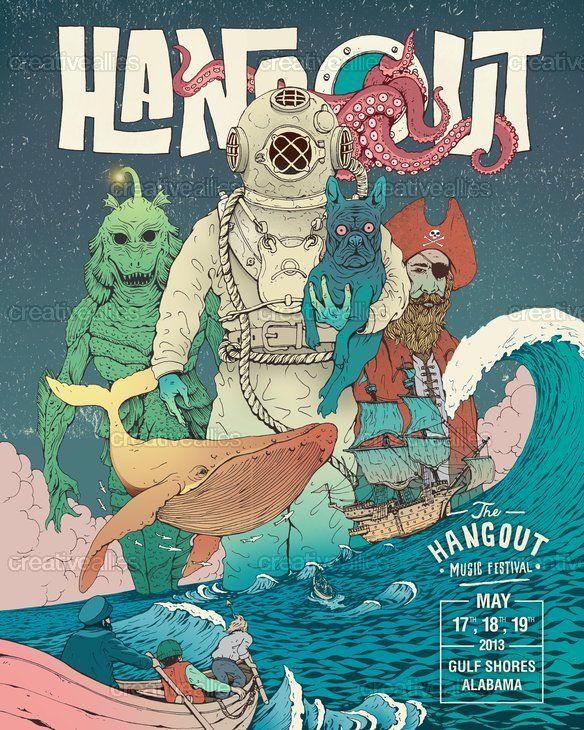 Hangout Music Festival Poster by Garis Edelweiss on CreativeAllies.com