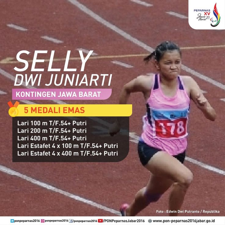 Selly Dwi Juniarti, kontingen Jawa Barat yang meraih medali 5 emas pada #Peparnas2016.