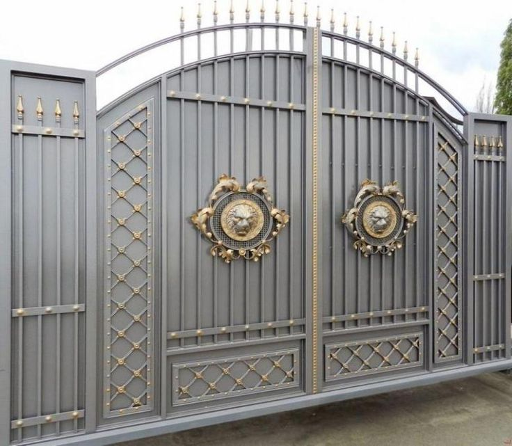 Stunning gray gold gate design ideas for modern home decor ideas ...