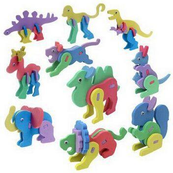 3D EVA animais Puzzles crianças crianças Do jardim de infância Do It Yourself fácil artesanato brinquedos   cores sortidas em Quebra-cabeça de Brinquedos & Lazer no AliExpress.com | Alibaba Group