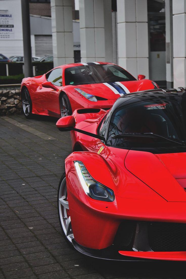 Laferrari and Ferrari 458 Speciale #Ferrari