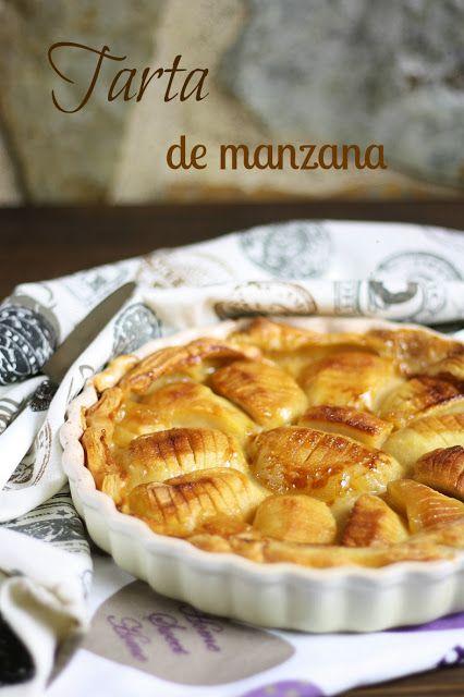 TARTA DE MANZANA DE ANGELIKA (Apple pie with custard and puff pastry)