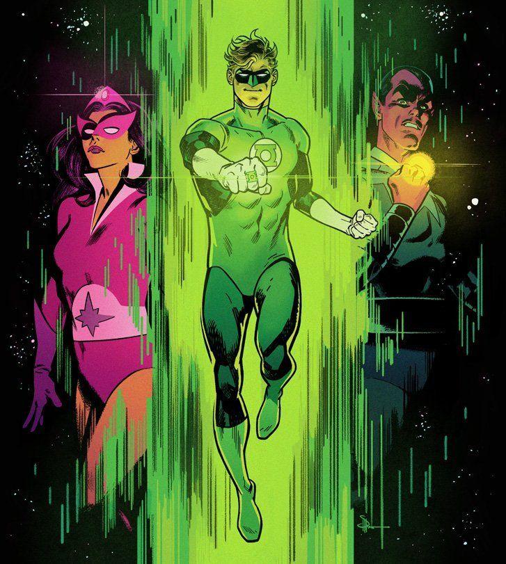 Green Lantern, Star Sapphire and Sinestro by Doc Shaner.