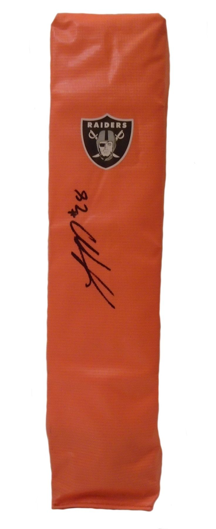Latavius Murray Autographed Oakland Raiders Full Size Football End Zone Touchdown Pylon. This is a brand-new custom Latavius Murray signed Oakland Raiders full sizefootball end zone pylon. This pylon measures 4inches (Width) X 4inches (Length) X 18inches (Height). Latavius signed the pylonin black sharpie.Check out the photo of Latavius signing for us. ** Proof photo is included for free with purchase. Please click on images to enlarge. Please browse our websitefor additional NFL…