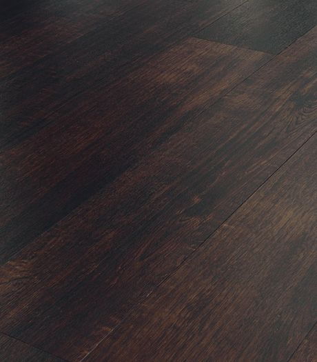 Karndean Opus Atra WP317 vinyl flooring is a rich dark brown with smokey hues and a subtle texture. The flat edge gives clean lines and a slick and stylish appearance that works well in a modern home.