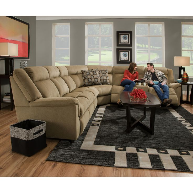 Simmons Upholstery Imagine Antelope Hide-A-Bed Sectional