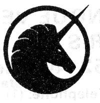 Found of FFFFOUND, dunno where this was scanned. #unicorn #symbol black/white