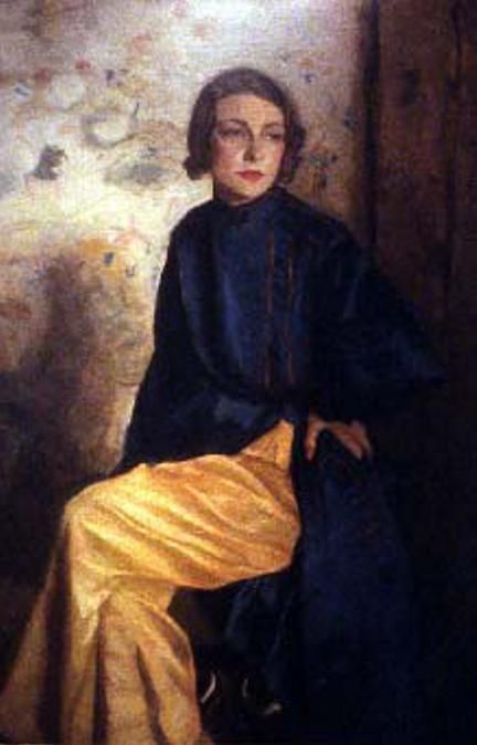 Cathleen Sabine Mann, 11th Marchioness of Queensbury, portrait by her father Harrington MannHarrington Mann, Fathers Harrington, Cathleen Sabines, Painting Art, Sabines Mann, 11Th Marchio, Fashion Portraits, Art 00, Art Portraits