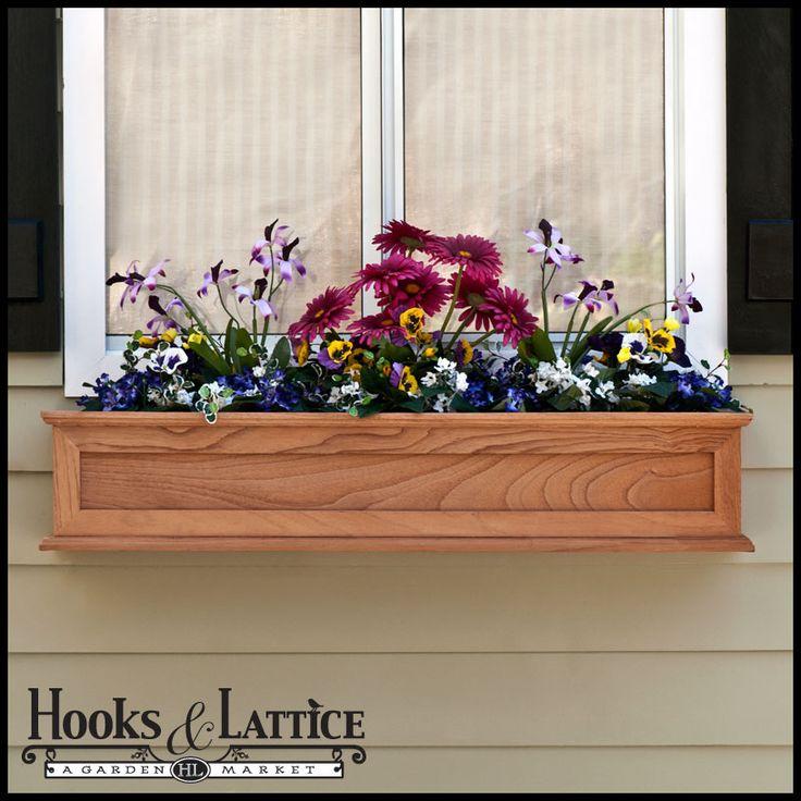 17 Best Ideas About Cedar Planter Box On Pinterest: Best 25+ Wooden Window Boxes Ideas Only On Pinterest