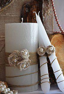 Svietidlá a sviečky - Sada na svadobný stôl - 4386799_