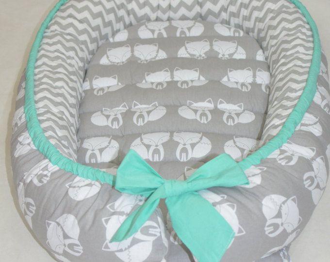 ¡LISTO PARA ENVIAR! Babynest doble nido de bebé, silla de bebé, bebé positoner, Remouvable colchón, regalo recién nacido, durmiente co, bebé neutral