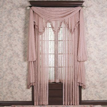 Delightful Lattice Lace Panels Window Treatment