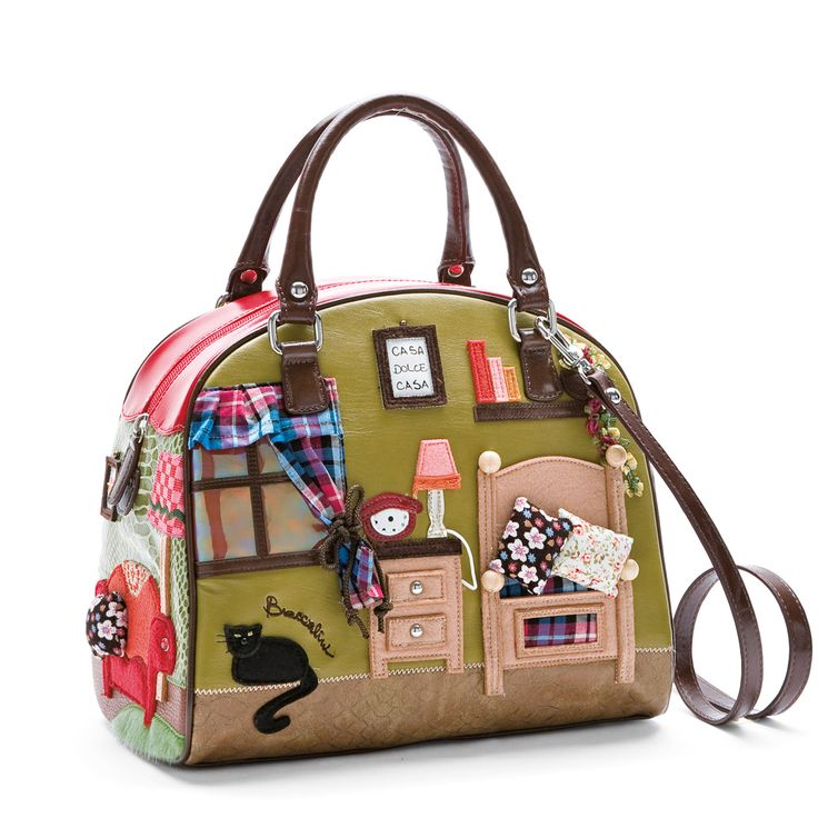 Cubalibre handbag red by Braccialini.  I think they are an Italian company that makes adorable kawaii character and theme handbags, I just found this store and I love everything!