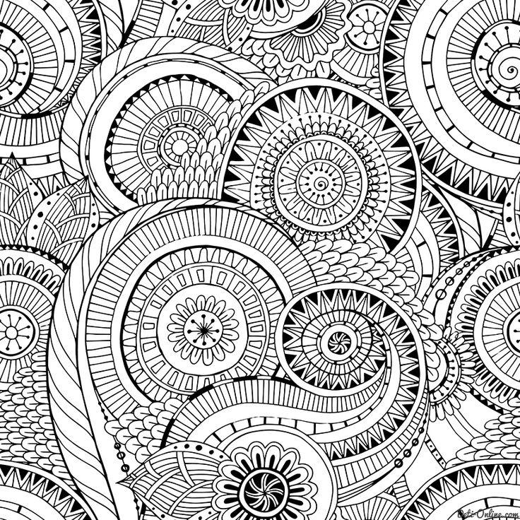 Раскраска Антистресс Цветочная геометрия распечатать или ...