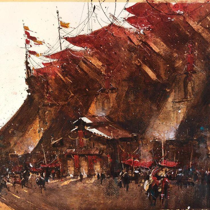 """263 mentions J'aime, 7 commentaires - Judd Mercer (@juddmercer_art) sur Instagram : """"Progress! #artistsoninstagram #painter #drawing #art #artist #art🎨 #artwork #painting #paintings…"""""""