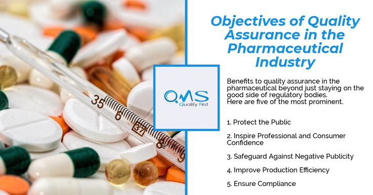 Objectives of quality assurance in the pharmaceutical