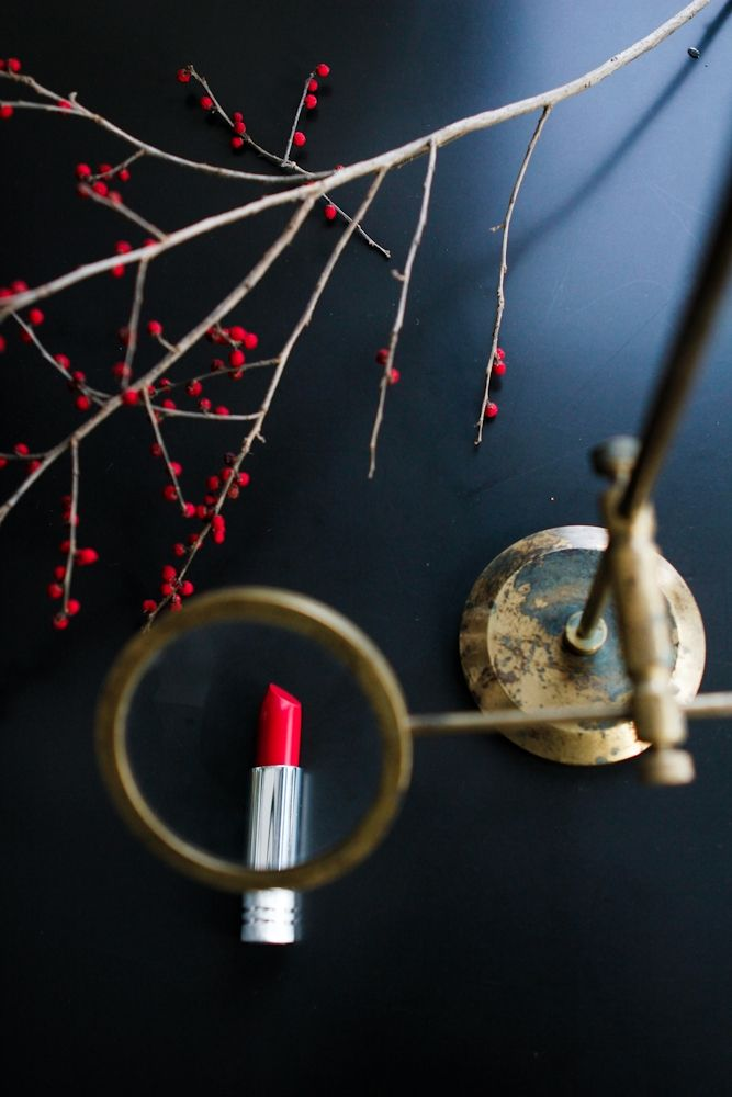 """The red pout get MAGNIFIED! <a href=\""""http://www.clinique.com/product/1605/5404/Makeup/Lipsticks/Long-Last-Lipstick/index.tmpl\"""" target=\""""_blank\"""">Clinique RED RED RED Long Lasting Lip Color</a>"""