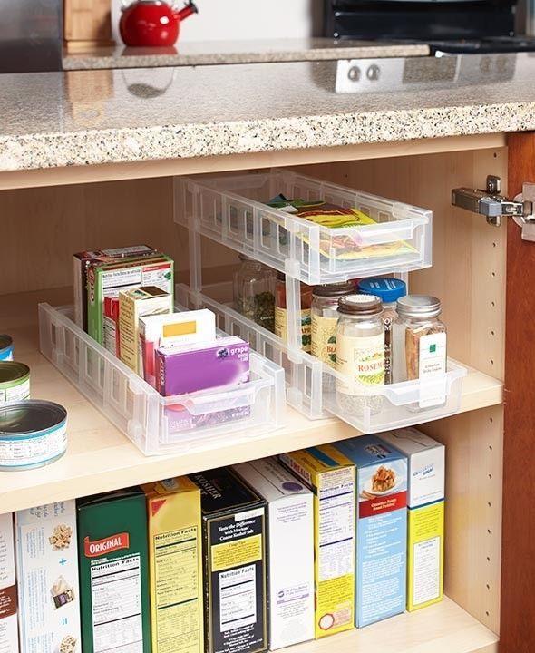 NEW Sliding Cabinet Storage kitchen bathroom shelf drawer organizer storage unit