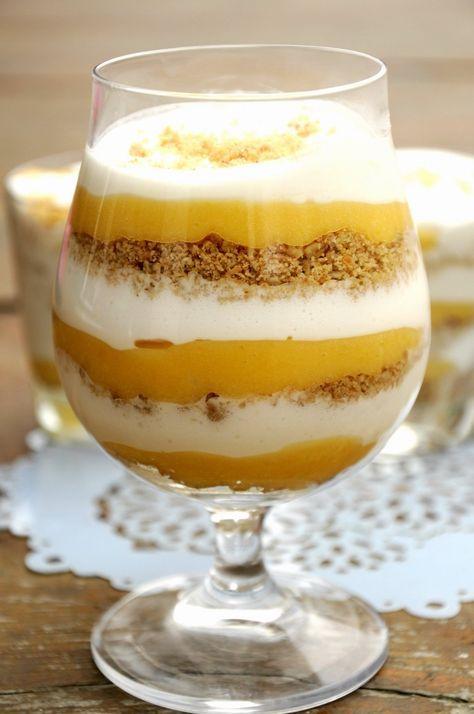 citromkrémes poharas desszert