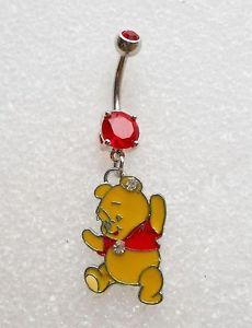 Winnie The Pooh Bear Navel Belly Button Ring Body Jewelry Piercing Disney 10H | eBay