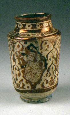 Jar (albarello) with luster decoration Kashan, Iran 12th–13th century Glazed frit
