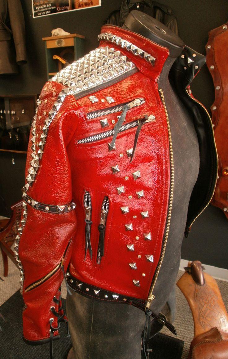 Leather jacket killer b&q - Michael Jackson Style Custom Leather Jacket By Fredbohrman On Etsy 1 200 00