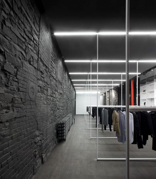 Interieur Design Mrqt Boutique Dekowand Holzstabchen Rok ...