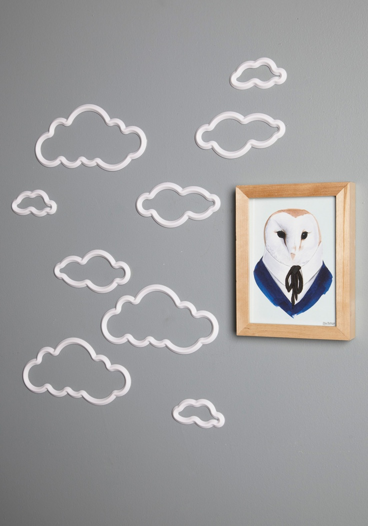 This wall decor is just too cute! Pair it with some simple wallpaper from http://www.lelandswallpaper.com for truly one of a kind wall decor. On Cloud Mine Wall Decor | Mod Retro Vintage Wall Decor | ModCloth.comClouds Mine, Clouds Wall, Bedroom Walls, Room Wall Decor, Modcloth, Kids Room, Mine Wall, 14 99, Boys Room