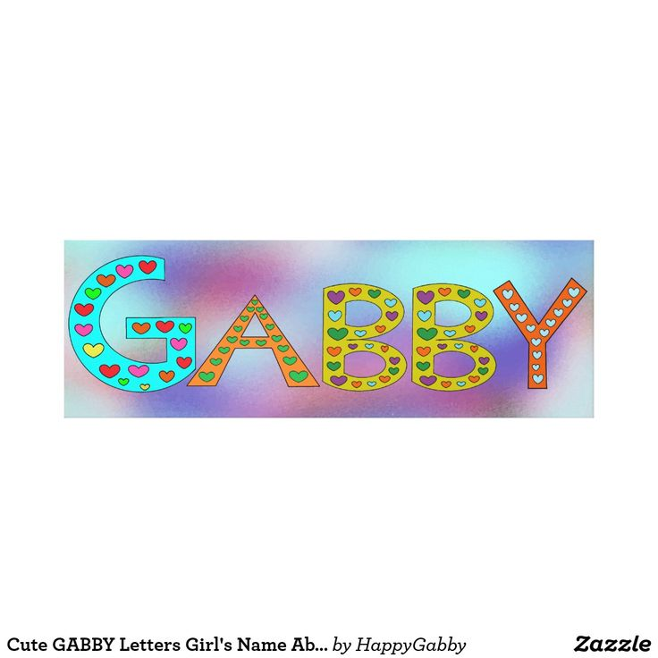 Cute GABBY Letters Girl's Name Abstract Background Canvas