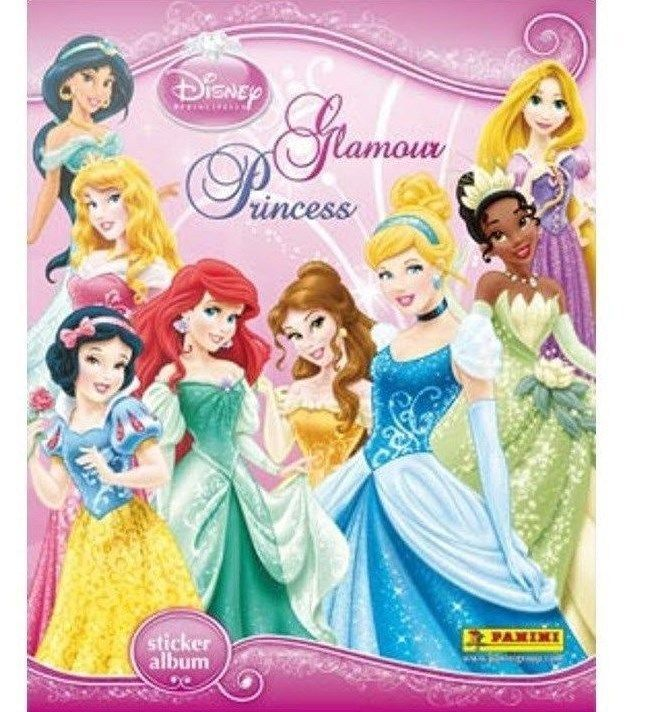disney princess panini sticker albumbook 1 glamour princess sticker