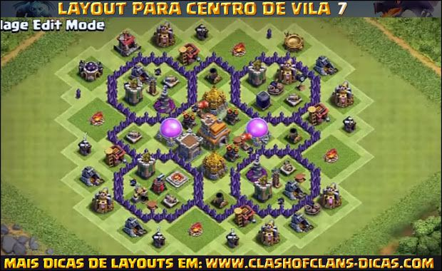 Layouts de CV7 para Clash of Clans - Clash of Clans Dicas, Gemas Grátis, Tutoriais e Layouts