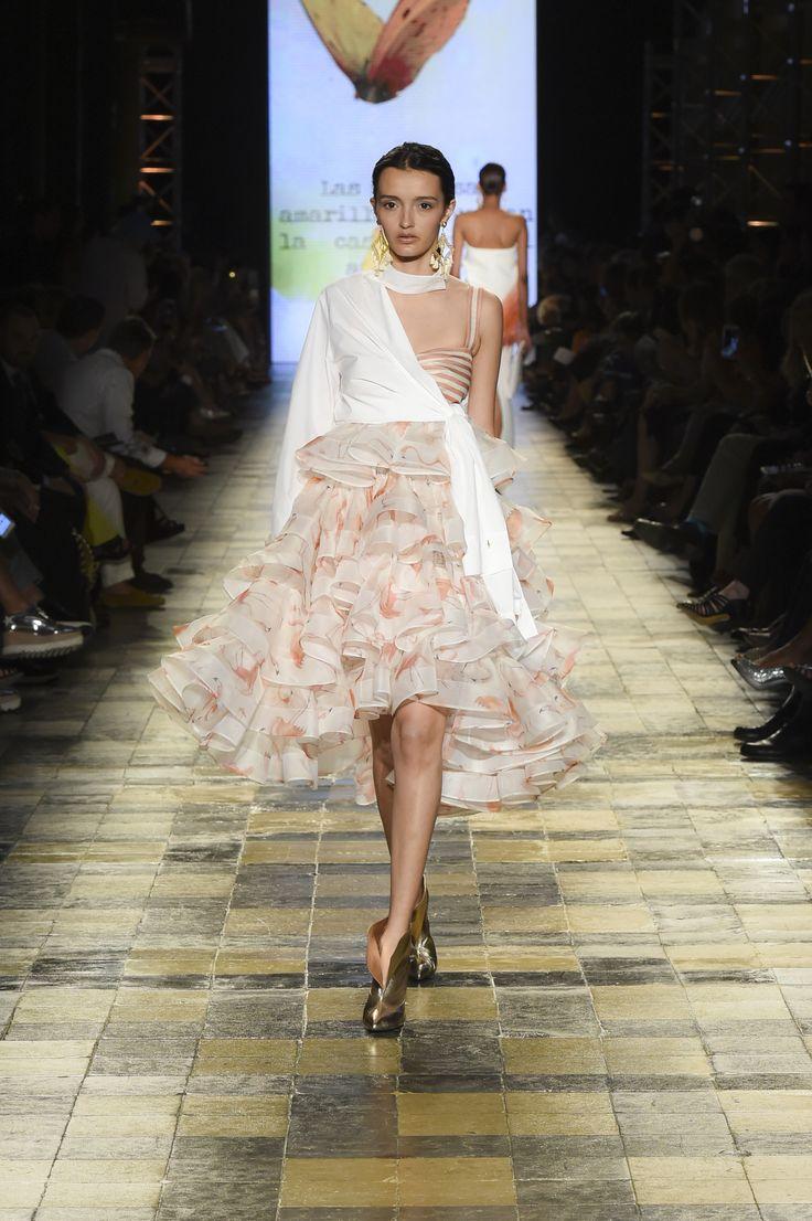 Silvia Tcherassi SS2017  Ruffled summer dress  and deconstructed asymmetrical white cotton shirt