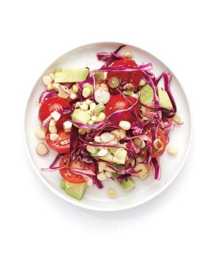 Tomato, Corn, and Red Cabbage Salad   Need something to pair with that smoky brisket or tangy pulled pork? Try one of these recipes for 'cue-ready sides.