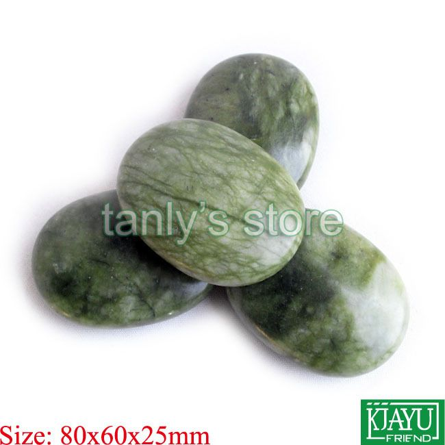 Find More Massage & Relaxation Information about 4pcs/lot wholesale Therapy Power  Beauty stone massage body kit glaze jade 80x60x25mm,High Quality Massage & Relaxation from Tanly's store on Aliexpress.com