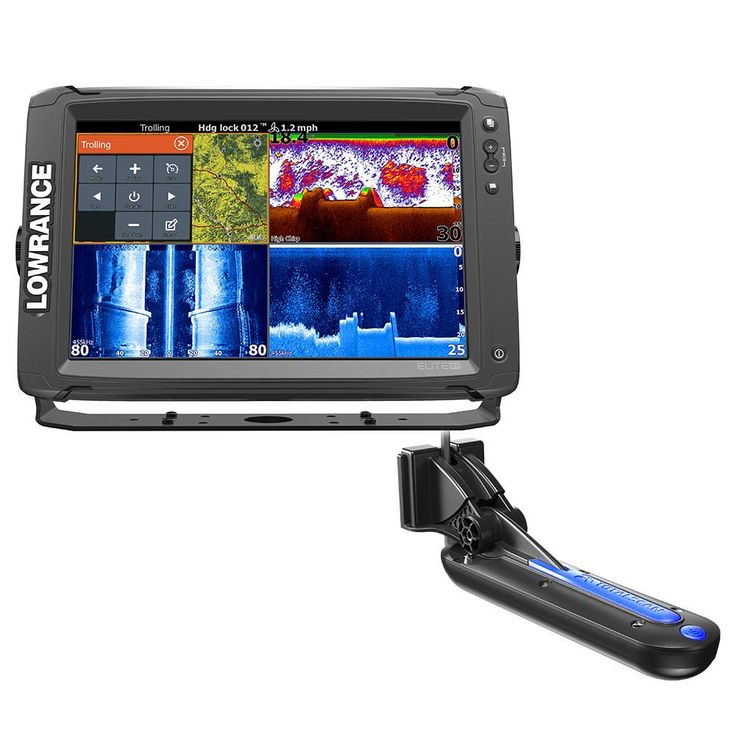 Lowrance Elite12 Ti with TotalScan Transom Mount