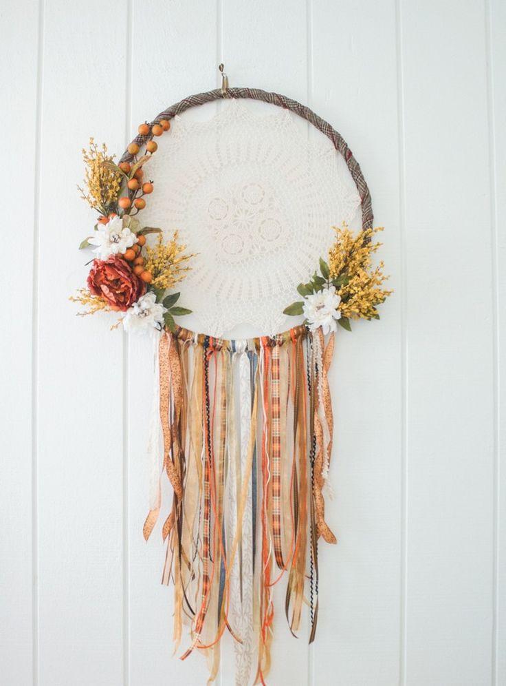 hula hoop reifen dekorieren traumfänger basteln