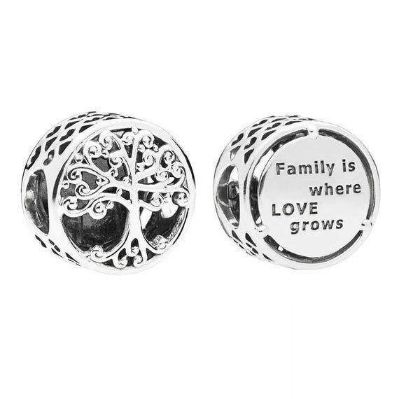 Family Roots Charm Fits Pandora Charm Bracelet Silver 925 Etsy Pandora Family Pandora Bracelet Charms Pandora Charms