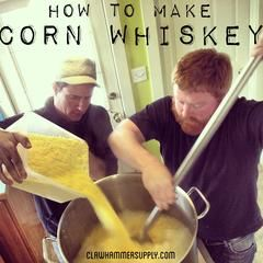Step by Step Corn Whiskey Moonshine Recipe with pictures.