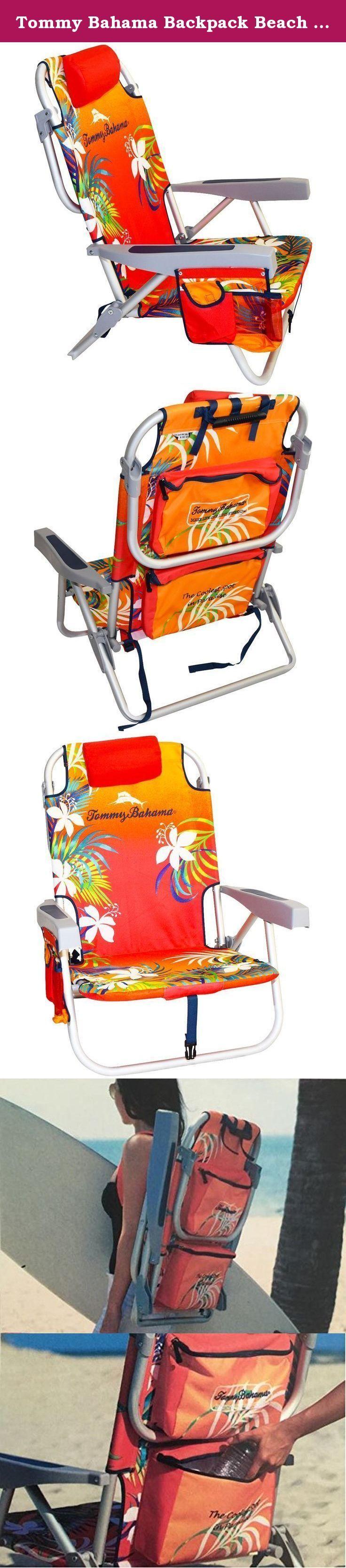 Tommy Bahama Backpack Beach Chair, Red. Beach chair, Tommy Bahama beach chair,red,chair,recliner,Tommy Bahama,beach,beach umbrella, Silla de playa,5 positions, backpack beach chair,backpack,cooler,Rio beach chair, large capacity, outdoor chair,2016,summer chair, beach recliner.