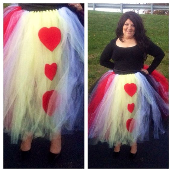 Queen Of Hearts Costume Diy Tutu Adult Queen of Hearts ...