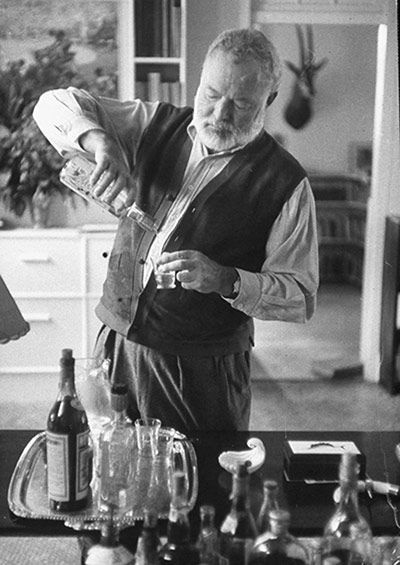 """Hemingway champagne  Also called Death in the Afternoon, this was the drink Ernest Hemingway recommended when invited to contribute to a 1935 cocktail book. His instruction: """"Pour one jigger absinthe into a champagne glass. Add iced champagne until it attains the proper opalescent milkiness. Drink three to five of these slowly."""" Other cocktails invented by the dipsomaniac novelist include Death in the Gulf Stream (a mix of gin, lime and bitters), the Hemingway daiquiri (made with grapefruit…"""