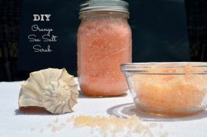 This DIY Orange Sea Salt Scrub will keep your hands feeling moistened even if you clean a lot around the kitchen.